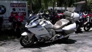 8. Pre-Owned 2014 BMW K 1600 GTL Exclusive Mineral White Metallic at Euro Cycles of Tampa Bay