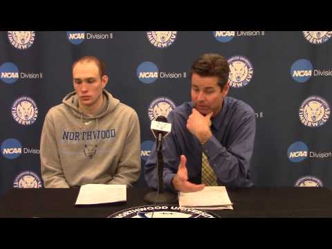 Northwood University Men's Basketball (2/21/15) NU 81, Northern Michigan 66 - Press Conference