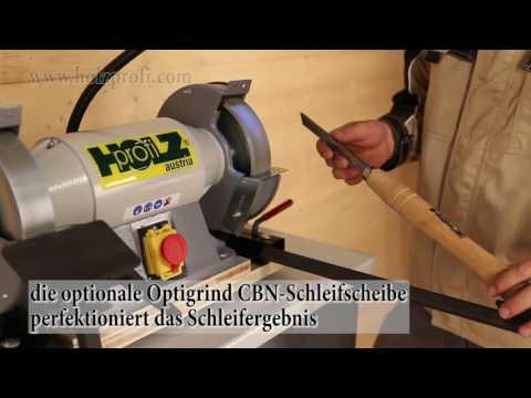 Drechselmesser schleifen mit der Schleifmaschine von Holzprofi