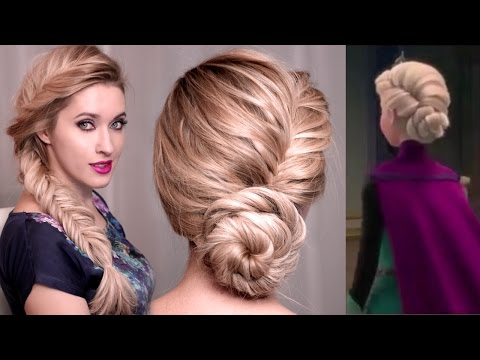 Frozen's Elsa hair tutorial: UPDO, BRAID hairstyles for long hair