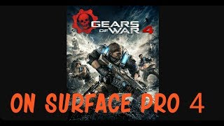 Produced with CyberLink PowerDirector 15I downloaded Gears of war 4 onto my surface pro 4 (m3 4gb ram) using my external hard drive. You have to make sure the computer is updated to Windows 10 anniversary edition. From there go into the Microsoft store and download said game. Thanks for watching.