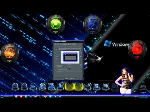 Windows 7 Efecto Luz Neon 2012