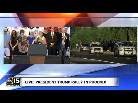 IMPRESSIVE POLICE MOTORCADE! President Trump escorted to Phoenix Rally
