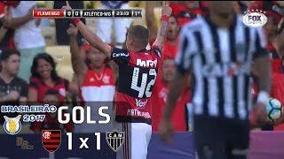 Gols - Flamengo 1 x 1 Atlético-MG - 1ª Rodada Brasileirão 2017 - 13/05/2017Narração: Marco de Vargas, Comentários: Fábio AzevedoEstádio: Maracanã, Rio de Janeiro-RJ