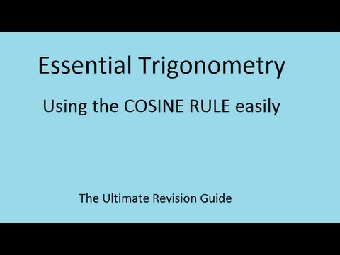 Der Cosinus Rule (GCSE und AS Maths Revision)