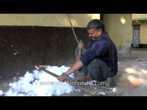 Dhunai or beating cotton in a razai - Dying jobs of India