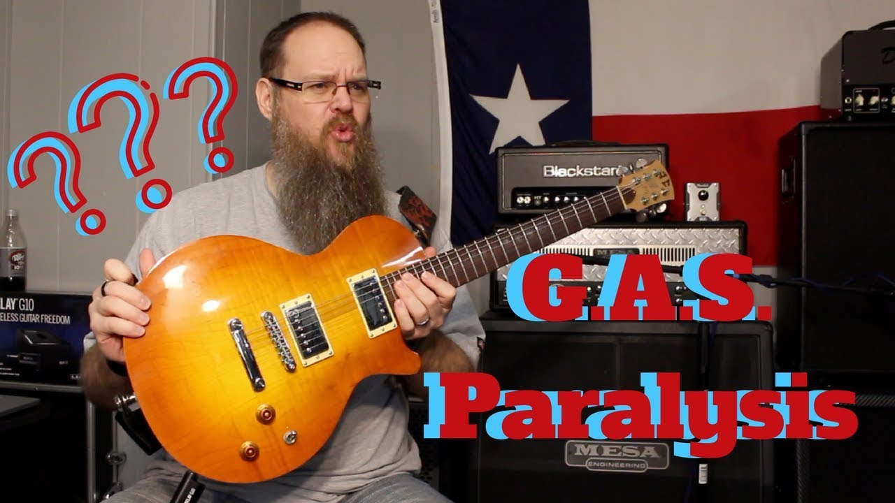 G.A.S. Playing Guitar vs Looking at Guitars!