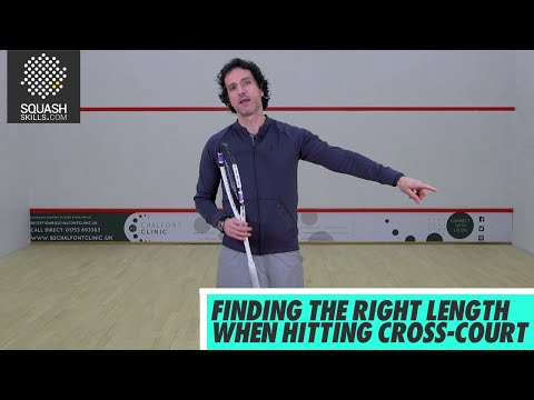 Squash tips: Finding the Right Length when hitting Cross-Court with Lee Drew