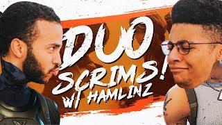PRO BASE BATTLES! DUO SCRIM WITH HAMLINZ (Fortnite BR Full Match)