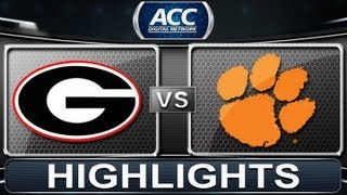 2013 ACC Football Highlights   #5 Georgia vs #8 Clemson   ACCDigitalNetwork