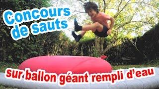 Video Concours de sauts sur un BALLON GONFLABLE GEANT REMPLI D'EAU MP3, 3GP, MP4, WEBM, AVI, FLV Oktober 2017