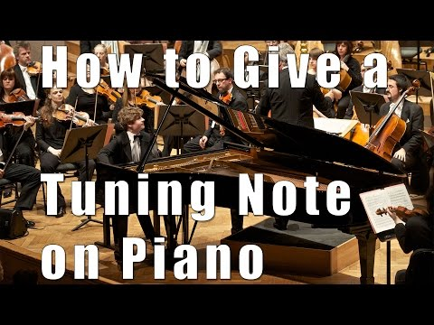 How to give a tuning note