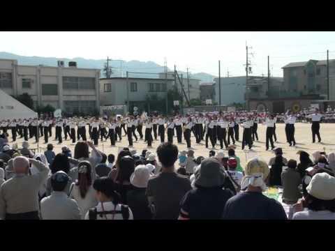 2015曙川南中学校 マーチング 1004刑部小運動会