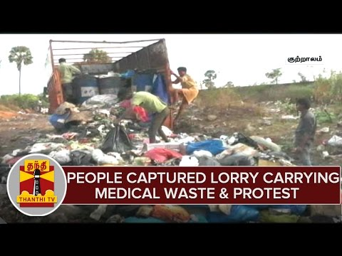 People-Captured-Lorry-Carrying-Medical-Wastes-Near-Tenkasi-Protest-04-03-2016