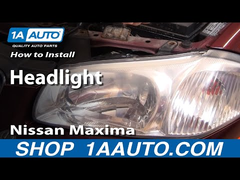 How To Install Replace Headlight Nissan Maxima 00-01 1AAuto.com