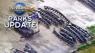Jurassic Coaster Track On Site, Hagrid Troubles & Bourne - Universal Orlando Parks Update