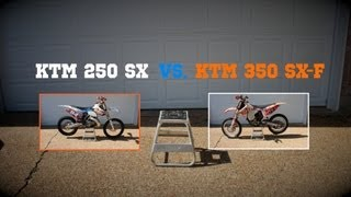 7. KTM 350 SX-F vs. KTM 250 SX! (Two stroke vs. Four Stroke Shootout)