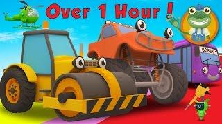 Video Rick The Road Roller and More Trucks For Children | Gecko's Garage MP3, 3GP, MP4, WEBM, AVI, FLV November 2017