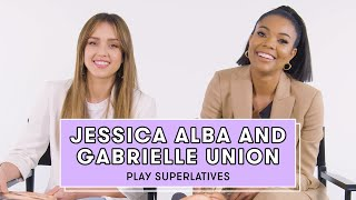 Gabrielle Union and Jessica Alba Reveal Who's Most Likely to Break Character and More   Superlatives by Seventeen Magazine