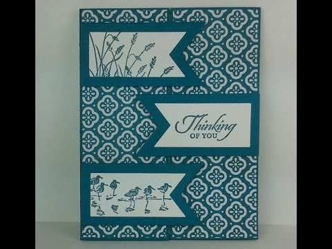 Easy Masculine Card with a Fun Fold