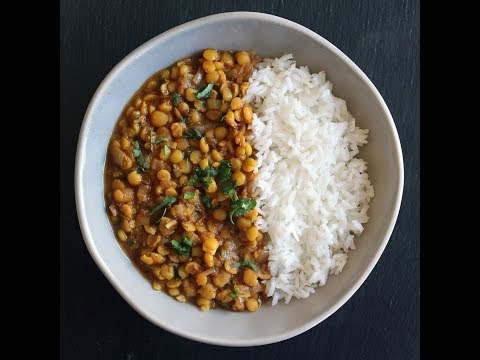 Yellow Split Pea Dhal Recipe - Vegan