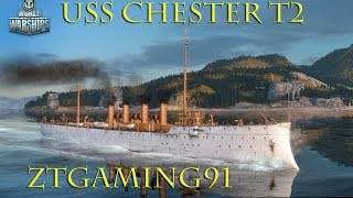 Chester (CA) United States  city photo : World of Warships - Tier 2 Gameplay USS Chester