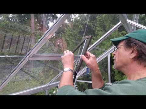 Halls Greenhouses: Building and Installing an Auto Roof Vent Opener