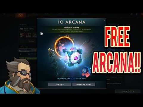 NEW Io Arcana! Free Io Arcana! Io Won The Arcana Vote! Ti7 Battle Pass Exclusive!