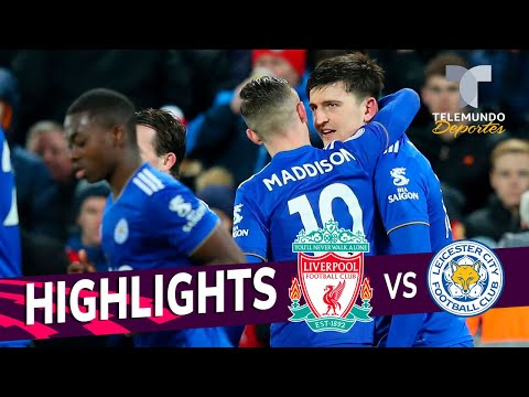 Liverpool Vs. Leicester City: 1-1 Goals & Highlights | Premier League | Telemundo Deportes