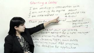 How to Start Any Letter, Writing in English