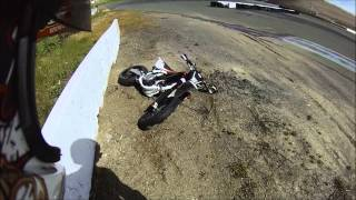 8. Husqvarna 450 smr crash 96mph