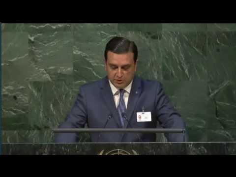 Արմեն Մուրադյանի ելույթը ՄԱԿ-ի գլխավոր ասամբլեայի ՄԻԱՎ/ՁԻԱՀ-ի խնդիրներին նվիրված հանդիպման ժամանակ