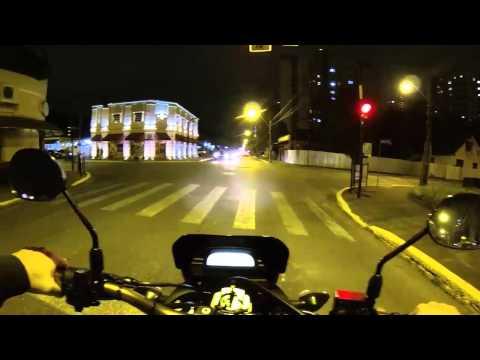 Rolê noturno em Joinville city ,falando sobre problema na roda traseira da moto...!!
