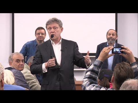 Явлинский: Постиндустриальное общество могут создать только свободные люди (видео)