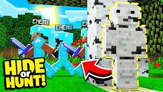 These HOSTILE Minecraft enemies are HUNTING me!  - Hide Or Hunt #5