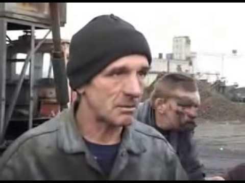 Drunk russian miner