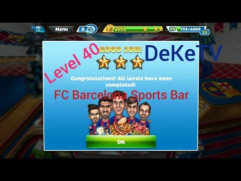 Cooking Fever - Amazing Level 40 FC Barcelona Sports Bar 3 Stars Tricks & Tips