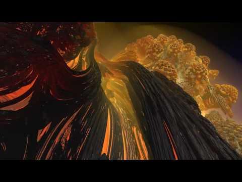 Mandelbulb flight – the lava dome