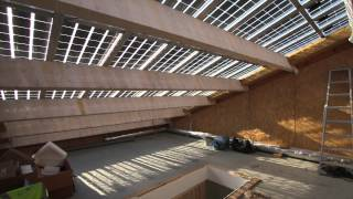 LOW CARBON ARCHITECTURE - Solcer house construction. Video produced by Ester Coma