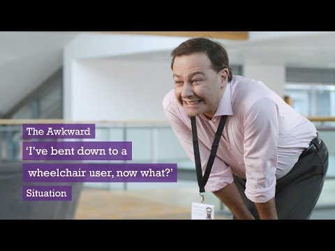 Scope looks to end awkwardness people feel when talking to the disabled in comedy ads by Grey video