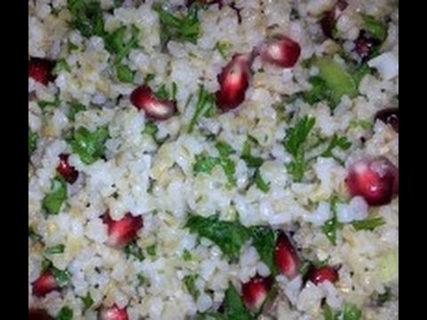How to seed a pomegranate for Tabouli Salad