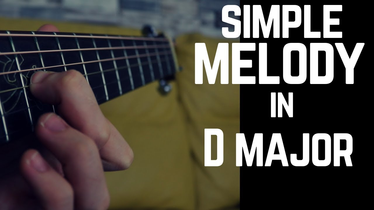 Beautiful Melody in D major on Acoustic Guitar | Fingerpicking Melody
