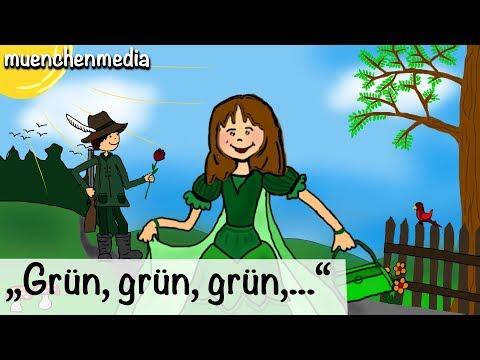 Kinderlieder deutsch - Grün, grün, grün sind alle meine Kleider - Kinderlieder zum Mitsingen
