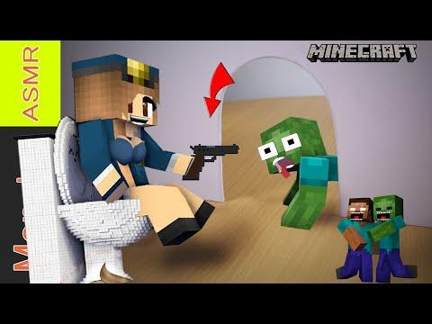 Monster school: Siren Head Toilet attacks Minecraft - Kluna tik eating Minecraft, Siren Head