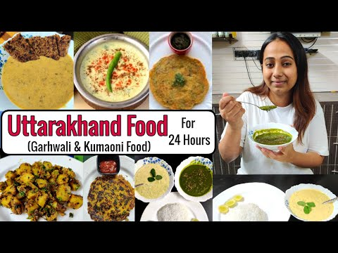 I only ate UTTARAKHAND Food for 24 Hours   Popular Uttarakhand food and its recipes   Food Challenge