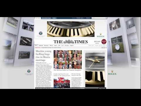 Rolex online newspaper ad