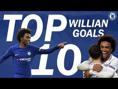 TOP 10: Willian Goals   Chelsea Tops