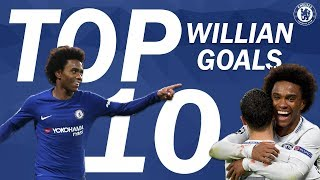 Video Top 10 Incredible Willian Goals | Chelsea Tops MP3, 3GP, MP4, WEBM, AVI, FLV Mei 2018