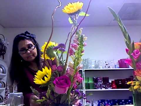 How to make beautiful summer flower arrangement