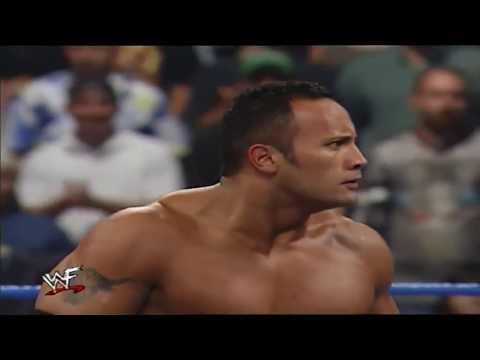 The Rock & Lita vs Kurt Angle & Stephanie McMahon WWE Smackdown Aug 24th 2000